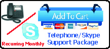Recurring Monthly Telephone and/or Skype Support
